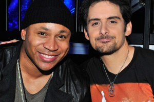 Country music star Brad Paisley and rapper LL Cool J